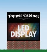 "62.5"" high x 112.5"" wide - High Resolution 10mm, Double Sided NextLED Electronic Message Center"