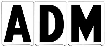 "4"" ADM Pronto Letters"